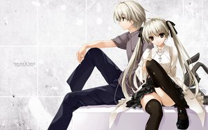 Rating: Questionable Score: 67 Tags: kasugano_sora long_hair misaki_kurehito skirt thighhighs yosuga_no_sora User: rayrei