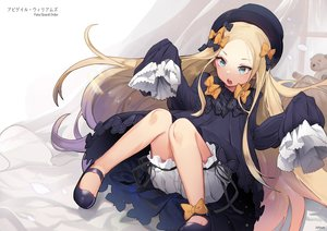 Rating: Safe Score: 59 Tags: abigail_williams_(fate/grand_order) aqua_eyes blonde_hair bloomers bow fate/grand_order fate_(series) goth-loli hat jehyun loli lolita_fashion long_hair shorts signed teddy_bear User: RyuZU