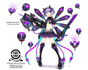 Rating: Safe Score: 138 Tags: gia gun original purple_eyes short_hair sword thighhighs weapon User: Wiresetc