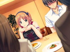 Rating: Safe Score: 108 Tags: drink food game_cg green_eyes koutaro minazuki_izumi orange_hair tropical_kiss twinkle User: Wiresetc