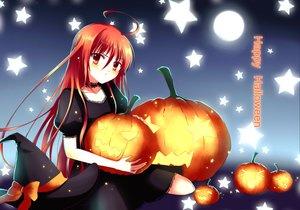 Rating: Safe Score: 82 Tags: gogatsu_fukuin halloween hat jpeg_artifacts long_hair red_eyes red_hair shakugan_no_shana shana witch_hat User: SciFi