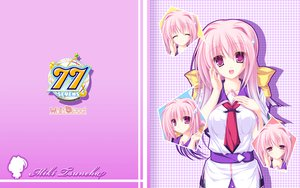 Rating: Safe Score: 38 Tags: 77 long_hair mikagami_mamizu pink_hair purple_eyes school_uniform tsuneha_miki User: oranganeh