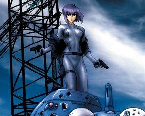 Rating: Safe Score: 15 Tags: ghost_in_the_shell gun kusanagi_motoko red_eyes tachikoma weapon User: Oyashiro-sama