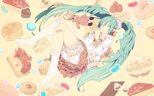 Rating: Safe Score: 55 Tags: hatsune_miku honya_lala long_hair lots_of_laugh_(vocaloid) mikumix twintails vocaloid User: anaraquelk2