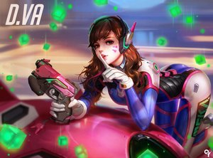Rating: Safe Score: 376 Tags: ass bodysuit brown_eyes brown_hair d.va gloves gun headphones liang_xing long_hair overwatch realistic skintight tattoo weapon User: RyuZU