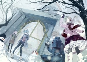 Rating: Safe Score: 52 Tags: blonde_hair blue_hair boots bou_shaku building dress long_hair male pantyhose pink_hair short_hair shorts snow snowman tian_tian_meng_wuyu tree twintails User: mattiasc02
