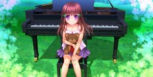 Rating: Safe Score: 45 Tags: brown_hair loli moonknives original purple_eyes teddy_bear User: gnarf1975