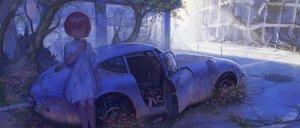 Rating: Safe Score: 35 Tags: blue_eyes car dress flowers food original red_hair reoen ruins scenic short_hair signed tree User: RyuZU