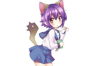 Rating: Safe Score: 89 Tags: animal_ears blush book brown_eyes catgirl glasses hoshino_madoka nagato_yuki nagato_yuki-chan_no_shoushitsu purple_hair school_uniform short_hair skirt suzumiya_haruhi_no_yuutsu tail third-party_edit white User: kokiriloz
