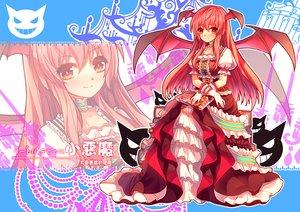 Rating: Safe Score: 33 Tags: demon dress eva200499 koakuma long_hair red_hair touhou wings User: Wiresetc