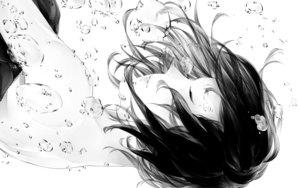 Rating: Safe Score: 71 Tags: black_hair bubbles monochrome original short_hair sousou_(sousouworks) underwater water User: luckyluna