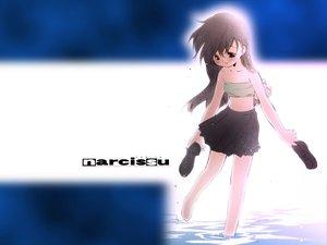 Rating: Safe Score: 8 Tags: barefoot blush brown_hair logo loli long_hair narcissu sakura_setsumi skirt tagme_(artist) water User: Oyashiro-sama