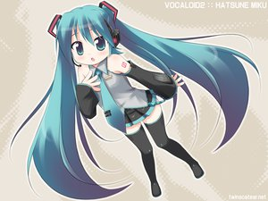Rating: Safe Score: 29 Tags: aqua_eyes aqua_hair chibi hatsune_miku headphones long_hair skirt thighhighs tie twintails vocaloid zettai_ryouiki User: Oyashiro-sama