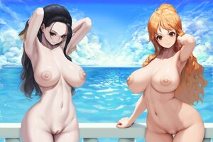 Rating: Explicit Score: 157 Tags: 2girls black_hair blue_eyes breasts brown_eyes letdie1414 long_hair nami navel nico_robin nipples nude one_piece orange_hair pussy uncensored water User: BattlequeenYume