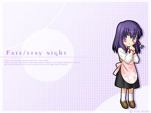 Rating: Safe Score: 20 Tags: chibi dress fate_(series) fate/stay_night matou_sakura purple_eyes purple_hair short_hair socks User: patokite91
