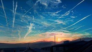 Rating: Safe Score: 94 Tags: banishment building clouds nobody original scenic signed sky sunset User: otaku_emmy