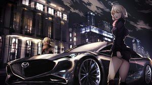 Rating: Safe Score: 50 Tags: 2girls blonde_hair building car city clouds dark fate/grand_order fate_(series) food jeanne_d'arc_alter jeanne_d'arc_(fate) night ponytail saber saber_alter short_hair skirt sky yamaorimon yellow_eyes User: BattlequeenYume