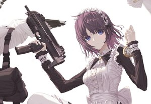 Rating: Safe Score: 97 Tags: animal bird eichi_(skskdi12z) gun headdress maid original short_hair weapon User: BattlequeenYume