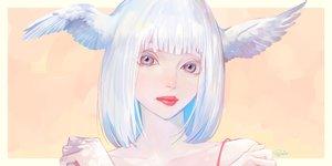Rating: Safe Score: 4 Tags: close original short_hair signed tajima_yukie white_hair wings User: FormX