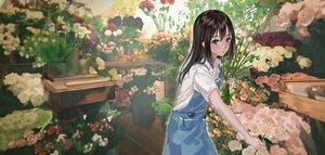 Rating: Safe Score: 70 Tags: black_hair flowers green_eyes idolmaster idolmaster_cinderella_girls long_hair roki_(0214278) shibuya_rin User: RyuZU
