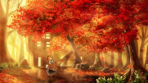 Rating: Safe Score: 82 Tags: apron autumn building flowers forest kakisuke original scenic tree water User: STORM
