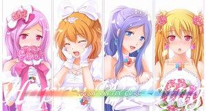 Rating: Safe Score: 61 Tags: aono_miki blush breasts chobipero cleavage flowers higashi_setsuna momozono_love petals precure wedding_attire white yamabuki_inori User: w7382001
