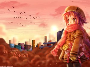 Rating: Safe Score: 21 Tags: animal bird gloves goto_p heart red_hair scarf yellow_eyes User: Oyashiro-sama