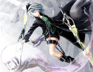 Rating: Safe Score: 105 Tags: boots bow chain gray_hair konpaku_youmu purple_eyes reio_(reio_reio) sword touhou weapon User: PAIIS