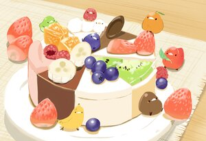 Rating: Safe Score: 25 Tags: animal bird chai_(artist) chocolate food fruit nobody orange_(fruit) original signed strawberry User: otaku_emmy