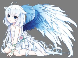 Rating: Safe Score: 97 Tags: barefoot flowers loli long_hair original transparent vector wedding_attire white wings yuu_(shiroyurine) User: RyuZU