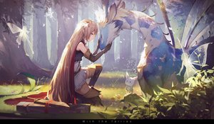Rating: Safe Score: 296 Tags: animal arisa_(shadowverse) blonde_hair boots cape dress elbow_gloves fairy gloves green_eyes kieed leaves long_hair pointed_ears shadowverse sword tree weapon wings zettai_ryouiki User: BattlequeenYume
