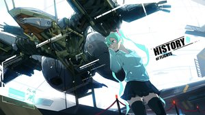 Rating: Safe Score: 66 Tags: aircraft aqua_eyes aqua_hair glasses hatsune_miku las91214 vocaloid User: FormX