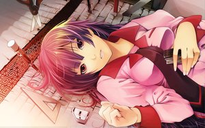 Rating: Safe Score: 85 Tags: bakemonogatari monogatari_(series) senjougahara_hitagi shiomiya_iruka User: rob3rt