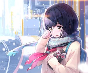 Rating: Safe Score: 54 Tags: +15 blue_hair close crying original scarf school_uniform short_hair tears valentine yellow_eyes User: sadodere-chan
