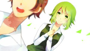 Rating: Safe Score: 13 Tags: achiki green_eyes green_hair gumi short_hair vocaloid white User: opai