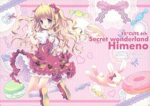 Rating: Safe Score: 45 Tags: blonde_hair blush candy lolita_fashion morinaga_korune purple_eyes scan User: Maho
