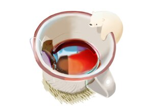 Rating: Safe Score: 11 Tags: animal bear chai_(artist) close drink nobody original signed white User: otaku_emmy