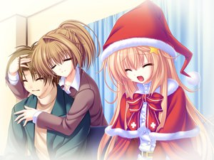 Rating: Safe Score: 18 Tags: blonde_hair game_cg meri_chri mikagami_mamizu santa_costume seiya_mashiro tears whirlpool User: Wiresetc