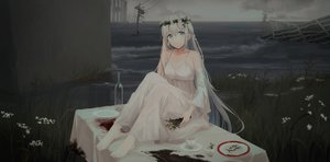 Rating: Safe Score: 71 Tags: chihuri405 dark dress flowers headdress long_hair original ruins summer_dress water white_hair User: sadodere-chan