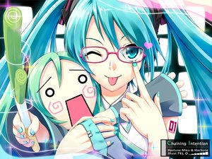 Rating: Safe Score: 145 Tags: aliasing close glasses hachune_miku hatsune_miku tel-o twintails vocaloid User: HawthorneKitty