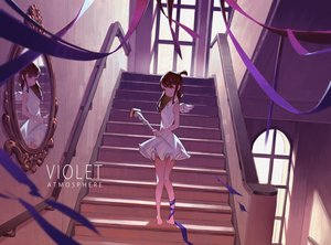 Rating: Safe Score: 67 Tags: kagari_atsuko little_witch_academia purple ribbons stairs yusheng User: FormX