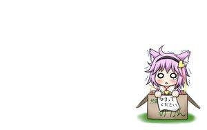 Rating: Safe Score: 15 Tags: animal_ears aonagi_ibane chibi komeiji_satori touhou white User: SciFi