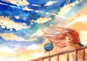 Rating: Safe Score: 84 Tags: brown_eyes brown_hair clouds earth original planet ruru_(tsuitta) sky User: FormX