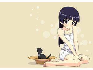 Rating: Safe Score: 86 Tags: animal black_hair blush cat gokou_ruri hat long_hair ore_no_imouto_ga_konna_ni_kawaii_wake_ga_nai User: HeadPhone