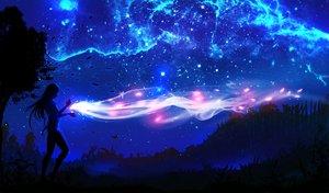 Rating: Safe Score: 157 Tags: landscape magic night original ryky scenic silhouette sky tree User: RyuZU
