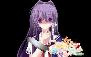 Rating: Safe Score: 22 Tags: black clannad fujibayashi_kyou knife User: korokun