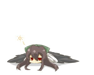 Rating: Safe Score: 42 Tags: chibi haipa_okara reiuji_utsuho touhou white User: happygestapo