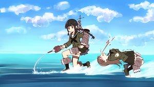 Rating: Safe Score: 28 Tags: kantai_collection kitakami_(kancolle) ooi_(kancolle) parody tagme tagme_(artist) water User: ArthurS91