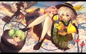 Rating: Safe Score: 69 Tags: black_hair bow chocolate clouds dress eva200499 food green_hair hat headband kaenbyou_rin kisume komeiji_koishi komeiji_satori long_hair pink_eyes pink_hair reiuji_utsuho short_hair touhou twintails white_hair wings yellow_eyes User: opai