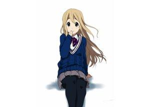 Rating: Safe Score: 63 Tags: blonde_hair green_eyes k-on! kotobuki_tsumugi pantyhose school_uniform watanore white User: C4R10Z123GT